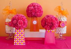 Create the perfect #dyi center piece to be the center of your next event. #party #decorations