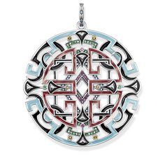 """pendant """"Asian ornaments"""" - – from the Glam & Soul collection from USD Order now easy & secure in our official THOMAS SABO online shop! Thomas Sabo, Glass Ceramic, Silver Color, Handcrafted Jewelry, Costume Jewelry, Cool Things To Buy, Bracelets, Silver Jewelry, Sterling Silver"""
