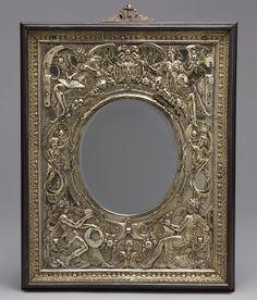 Mirror Frame, ca. 1568  Wenzel Jamnitzer (German, Nuremberg, 1508–1585, master 1534)  Silver gilt, ebony, and mirror plate
