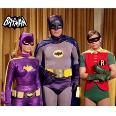 Batgirl, Batman and Robin. Batgirl, Batman and Robin. Adam West Batman, Batman Y Robin, Batman 1966, Im Batman, Batman Arkham, Batman Art, Batman Tv Show, Batman Tv Series, Batgirl