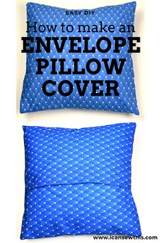 Best Absolutely Free sewing tutorials pillows Tips This sewing project is perfect for beginners. Learn to make a DIY envelope pillow cover in 10 minu Sewing Pillow Cases, Diy Pillow Covers, Sewing Pillows, Cushion Covers, Small Sewing Projects, Sewing Projects For Beginners, Sewing Tutorials, Sewing Tips, Tutorial Sewing