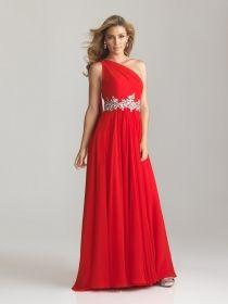 Red grecian prom dresses