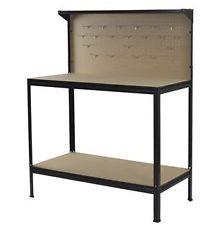 Indoor Garage Workbench Shelves Shelf Storage Workshop Shed