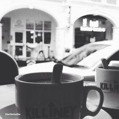 Relaxing at coffee shop after meeting :)  www.facebook.com/slothstudio