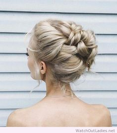 Wonderful updo for blonde hair