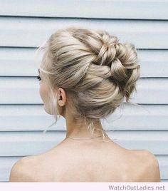 Lovely braided wedding updo