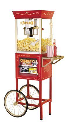 Nostalgia Electrics Vintage 6 Ounce Popcorn and Concession Cart   Wayfair
