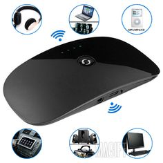 Bluetooth Transmitter Receiver 2 in 1 Wireless A2DP 3.5mm Stereo Audio Dongle Adapter for Tablet PC Laptop TV Cellphone Speaker