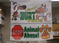 """HIGH QUALITY BANNERS ~ Now Available!..~.. Full Color, Durable, """"Outdoor Rated"""" Banners that will stand up to years of use. Each is hemmed & has grommets in each corner for easy hanging. Great for Adoption Events, Pet Fairs, etc.. These banners will ATTRACT ATTENTION & get people to visit your booth. Available in 2'x2' (35dollars) & 3'x3' (45dollars). We can use ANY of our t-shirt designs to create banners, just ask! For More Information visit…"""