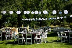 Outdoor with lanterns, casual & fun