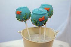 Fish bowl cake pops