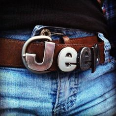 Jeep belt buckle made from emblem dyi