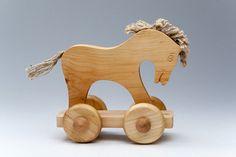 Figurine cheval  jouets en bois d'Animal  Toddler par didpanas