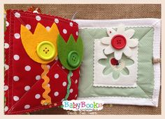 Flowery baby play for small muscle work-out. Baby Quiet Book, Quiet Books, Baby Play, Book Activities, Coin Purse, Muscle, Workout, Wallet, Baby Games