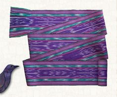 Purple Ikat Sash  Woven Cotton Gypsy Pirate by brizel4TheAnimals