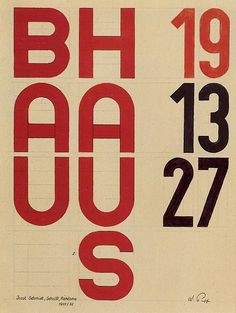 Bauhaus typography by Joost Schmidt, 1931.