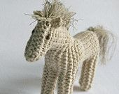 knitted toy horse pony / eco kids  by Patricija