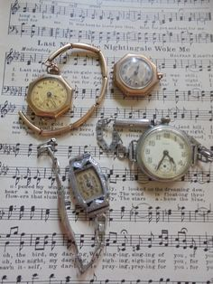 Lot of vintage watches ~ non working ladies wrist watches by salvagegardener on Etsy