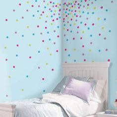 Glitter Confetti Dot Wall Decals
