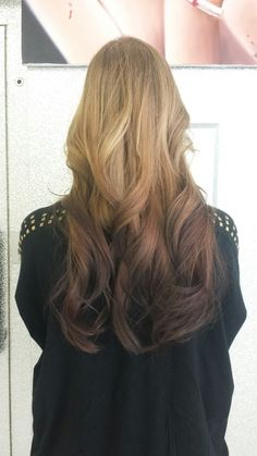 Reverse ombre- good option toakw hair look darker without dying your whole hair