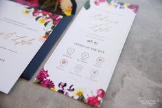 We specialise in creating exclusive wedding stationery such as invitations, save-the-date cards, etc Floral Wedding Stationery, Making Wedding Invitations, Drink Photo, Order Of Service, Save The Date Cards, Service Design, Wedding Designs, Day