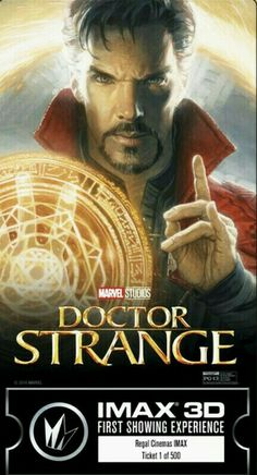 My Doctor Strange IMAX ticket is a treasure.  It was my very first IMAX movie and my one of my favorite movies of all time.  I got ticket #56 of 100 at my theater.