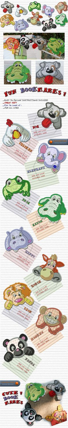 BOOKMARKS Embroidery Designs