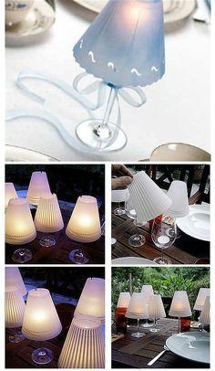 -vela-lâmpadas vinho de vidro