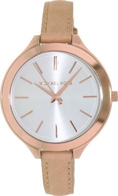 Michael Kors Runway Slim Rose Vachetta Women's Watch - MK2284