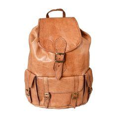 47a0dc2c4b2a1 Ziegenleder Rucksack Travel Bag Umhängetasche Leder-Tasche Vintage Hell NEU!  in Kleidung   Accessoires