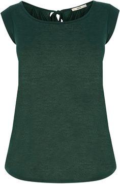 Womens bottle green fitted bow back tee from Oasis - £5 at ClothingByColour.com Fall Color Palette, Bow Back, Green Fashion, Oasis, Bows, Autumn, Colour, Fashion Outfits, Bottle