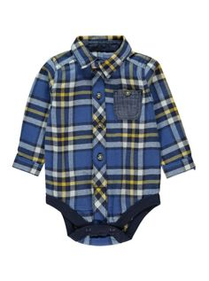 Toddler Boy Outfits, Toddler Boys, Newborn Halloween, Baby George, Denim Jumpsuit, Check Shirt, Latest Fashion For Women, Baby Bodysuit, Baby Boy