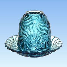 Antique Items, Vintage Items, Glass Art, Glass Lamps, Turquoise Art, Fairy Lamp, Fenton Glass, Glass Candle Holders, Glass Collection