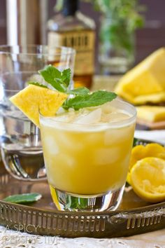 Pineapple Mint Whiskey Sour from Sommer Collier Drinks Recipe Party Drinks, Cocktail Drinks, Fun Drinks, Cocktail Recipes, Beverages, Whiskey Sour, Irish Whiskey, Refreshing Drinks, Summer Drinks