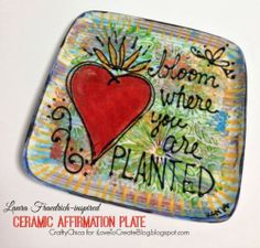 Ceramic Affirmation Plates - easy DIY project