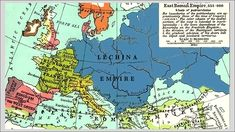 Imperium Lechickie przed chrztem Poland History, Sense Of Life, Being In The World, North Sea, Historical Maps, Roman Empire, Imperium, Weapon, Polish