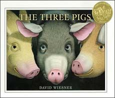 In this spectacularly creative version of the three little pigs, the wolf manages to blow the pigs right out of the story, and one by one, they become 3D and set off on an adventure of their own. Children will marvel at this book's creativity!