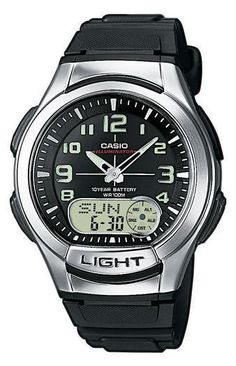 Casio AQ-180W-1BVES Collection heren horloge op Horlogeloods.nl!