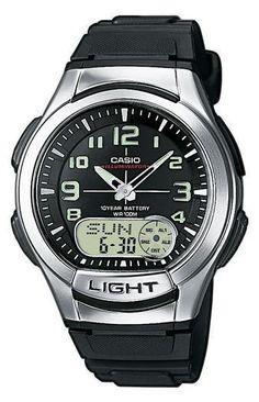 Casio AQ-180W-1BVES Collection heren horloge op Horlogeloods.nl!