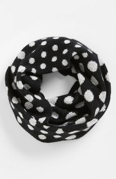 dot cashmere infinity scarf / nordstrom