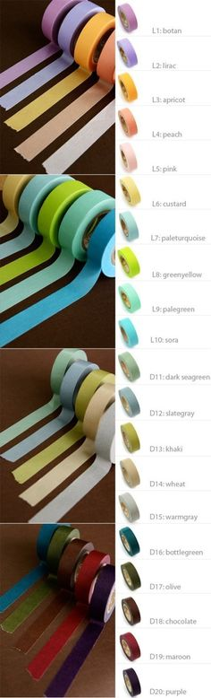 Solid Color Masking Tape 06 inch adhesive by WonderlandRoom, $5.20