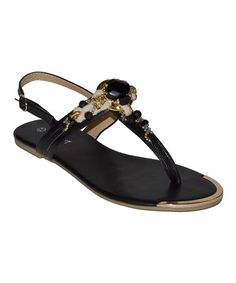Take a look at this Black Surge Sandal by Lollipop Shoes on #zulily today!
