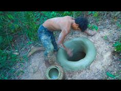 Build The Most Underground Swimming Pool Construction skills. In This Video We Build Use Primitive Technology, How To Do, How To Make, Wild Life, Primitive T. Underground Swimming Pool, Swimming Pools, 1 Story House, Swimming Pool Construction, Primitive Technology, Water Slides, Wildlife, Survival, Building