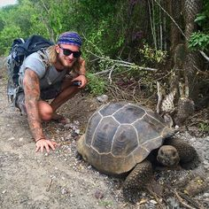 Say hello to my new friend! #tortoise #galapagos #isabelaisland #iovethisplace