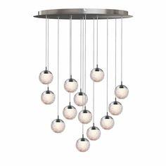 Ivy Bronx Heatherly 13-Light LED Cluster Globe Pendant | Wayfair Laser Cut Aluminum, Chandelier In Living Room, Globe Pendant, Sloped Ceiling, Decorating Tools, Light Led, Rustic Interiors, Comfort Zone, Simple Style