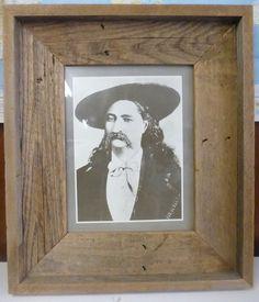 WILD BILL HICKOCK Barnwood 18x21 Framed Print 10x13 Wild West Gunslinger
