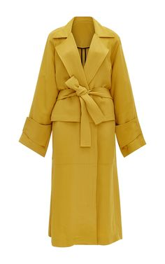 Belted Crepe Trench Coat by TOME for Preorder on Moda Operandi