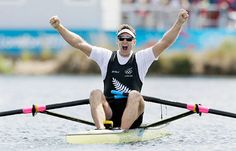 Rowing – men's single sculls Gold: Mahe Drysdale, New Zealand