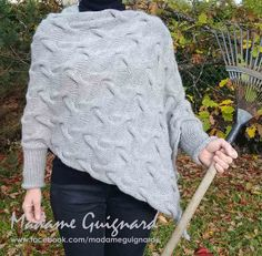 For someone who look for the easy knitting pattern. I think this pattern could answer Sizes: S, M, L, XL Poncho Knitting Patterns, Cable Needle, Needles Sizes, Handmade Clothes, Pdf, Wool, Sweaters, Etsy, Fashion