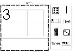 $This is a great group of workpages. The students will cut out all the numbers and sort them. Then they will glue the four that match in the boxes, and then glue the other four under the line.    There are Numbers 1-10, and sorting cards to match them all!